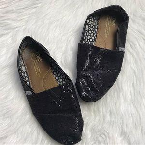 TOMS Glitter Black Classics size 9